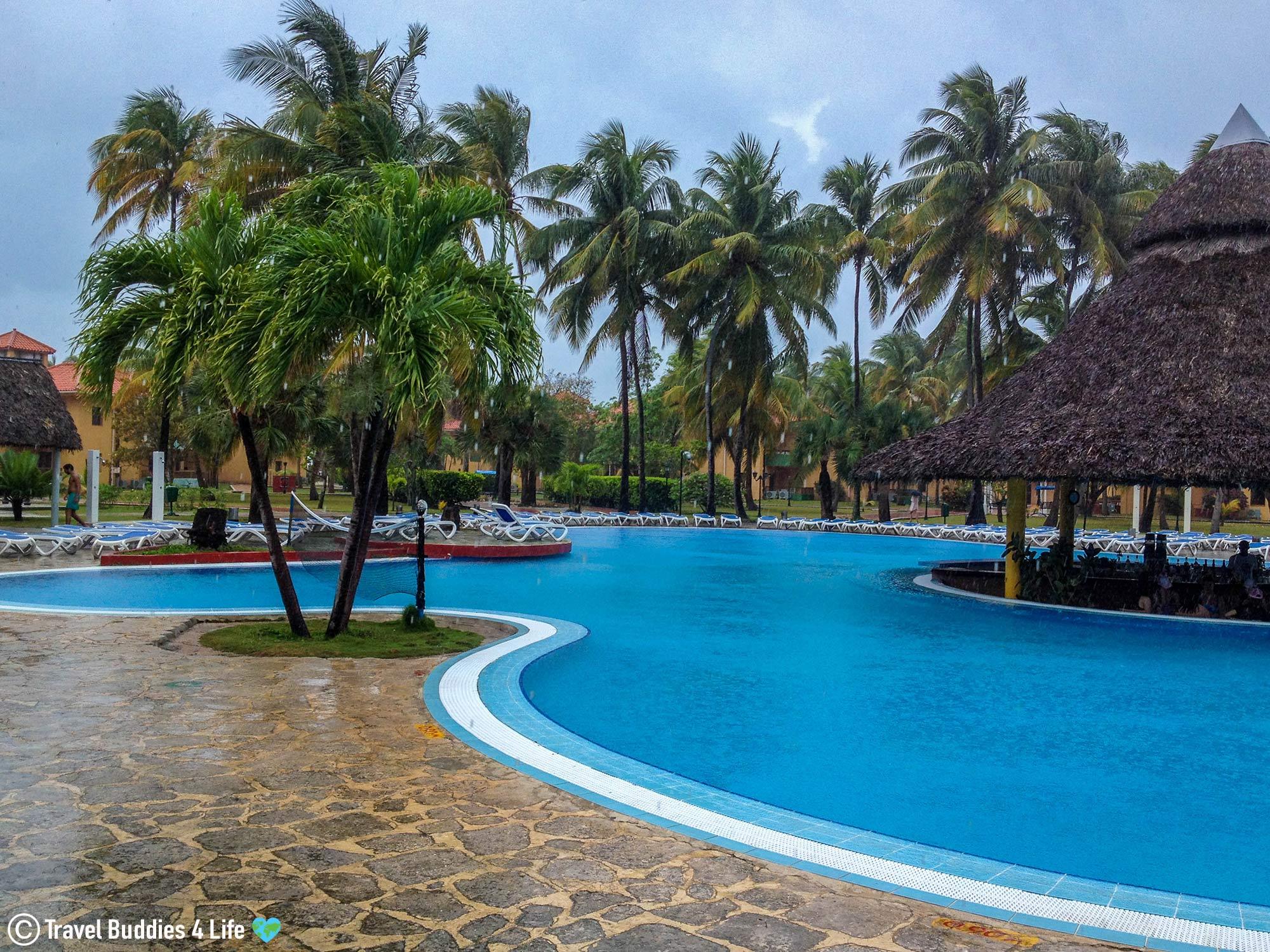 A View Of The Cuban All Inclusive Resort In The Rain, Varadero, Cuba