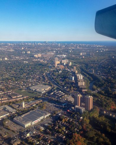 Airplane View Toronto
