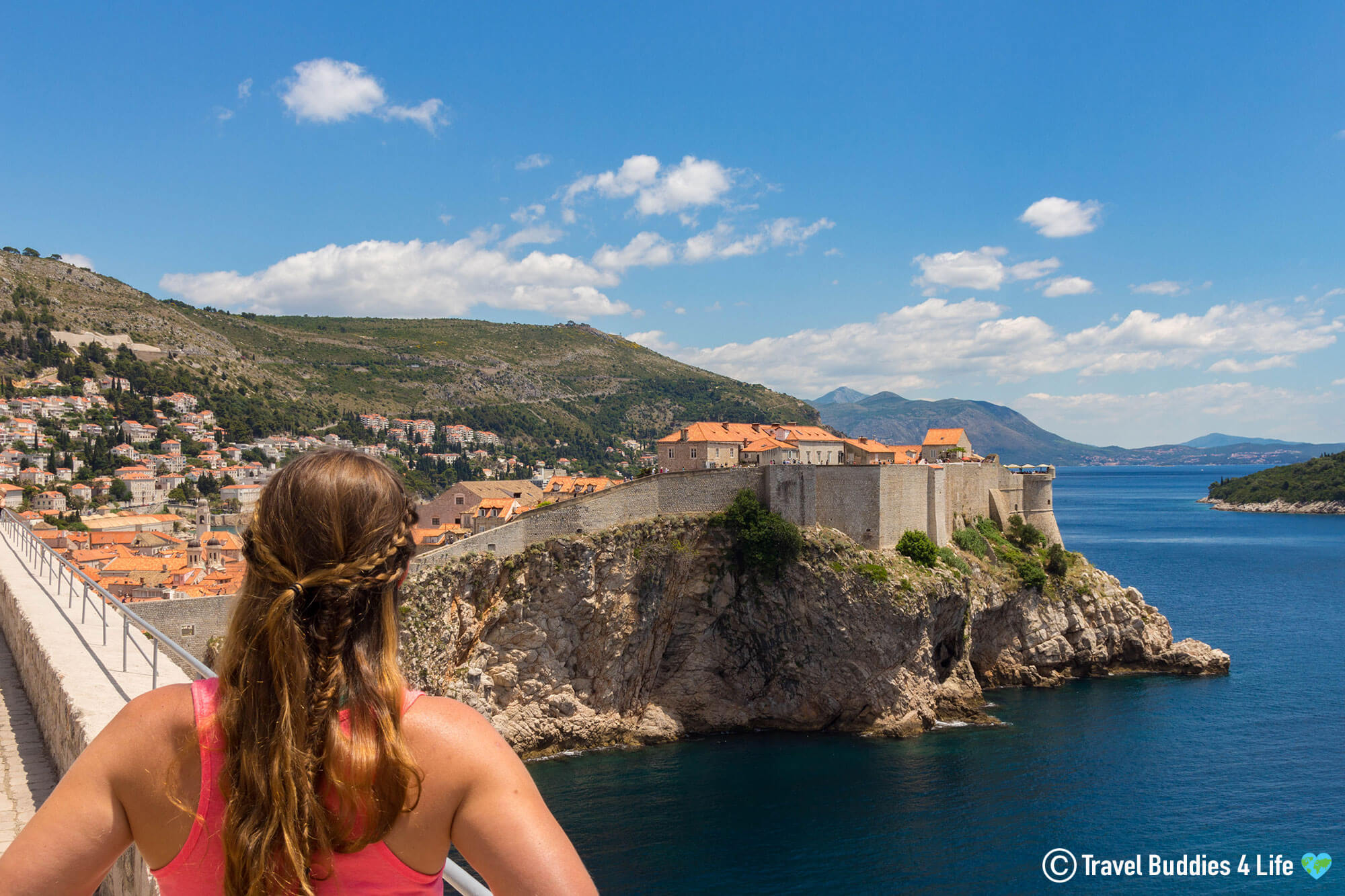 Ali Looking at Kings Landing in Dubrovnik Croatia
