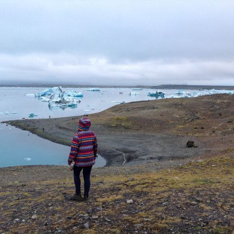 Ali Looking out at the Glacier Lagoon