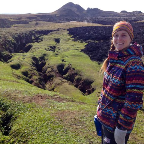 Ali Looking over the Lava Fields in Myvatn