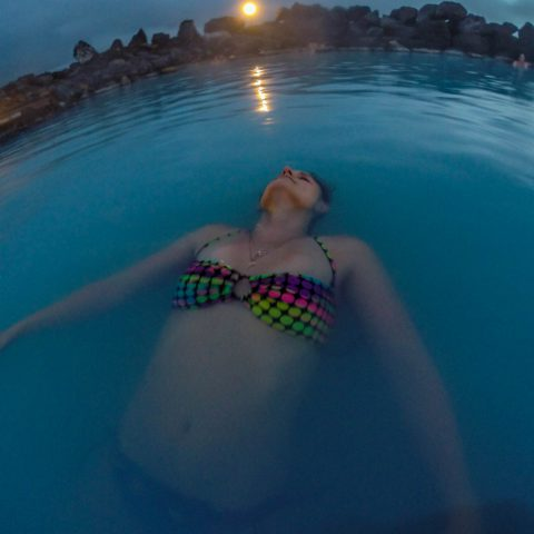 Ali Relaxing in the Blue Lagoon