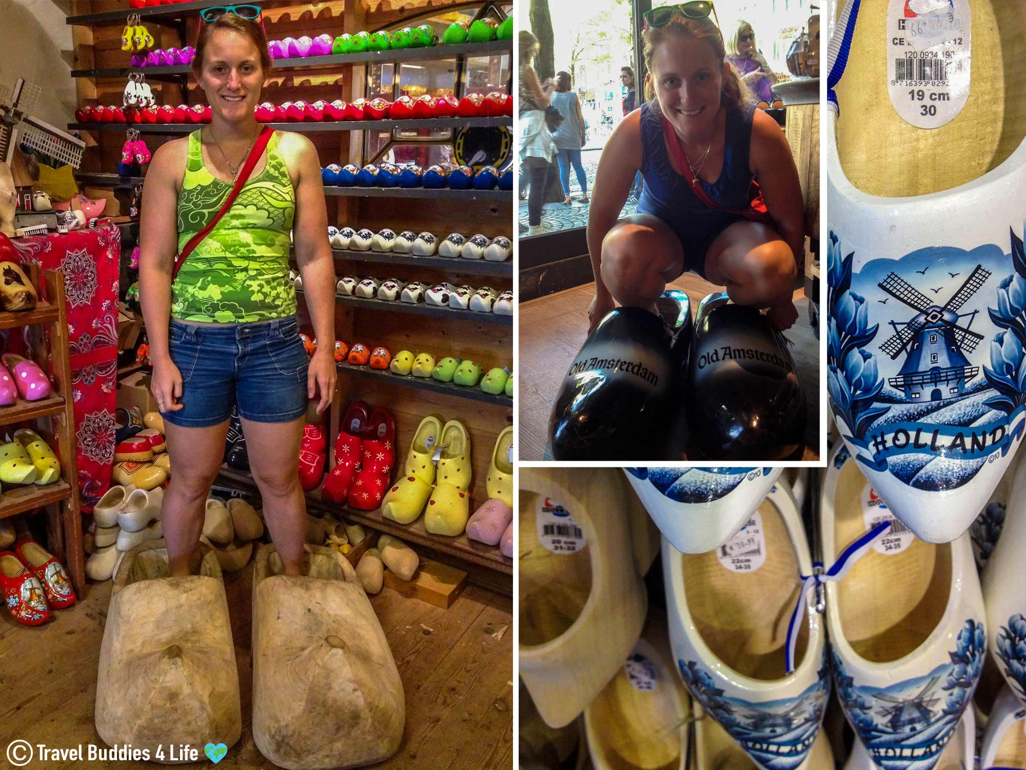 Ali Trying On A Wide Variety Of Iconic Dutch Clogs In The Netherlands, Europe