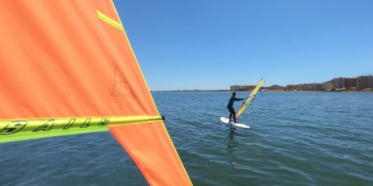 Ali and Joey Windsurfing in Spain on the Mer Menor close to La Manga