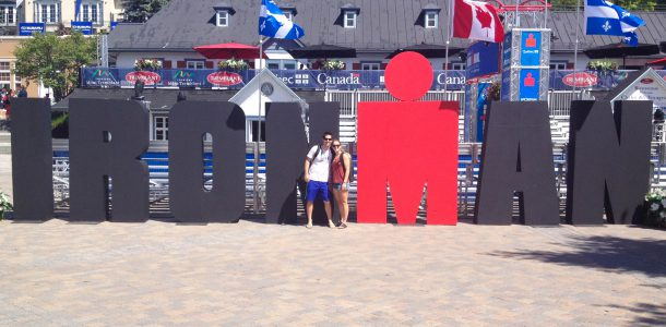Ali And Joey With The Ironman Sign
