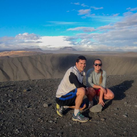 Ali and Joey at the Edge of the Crater