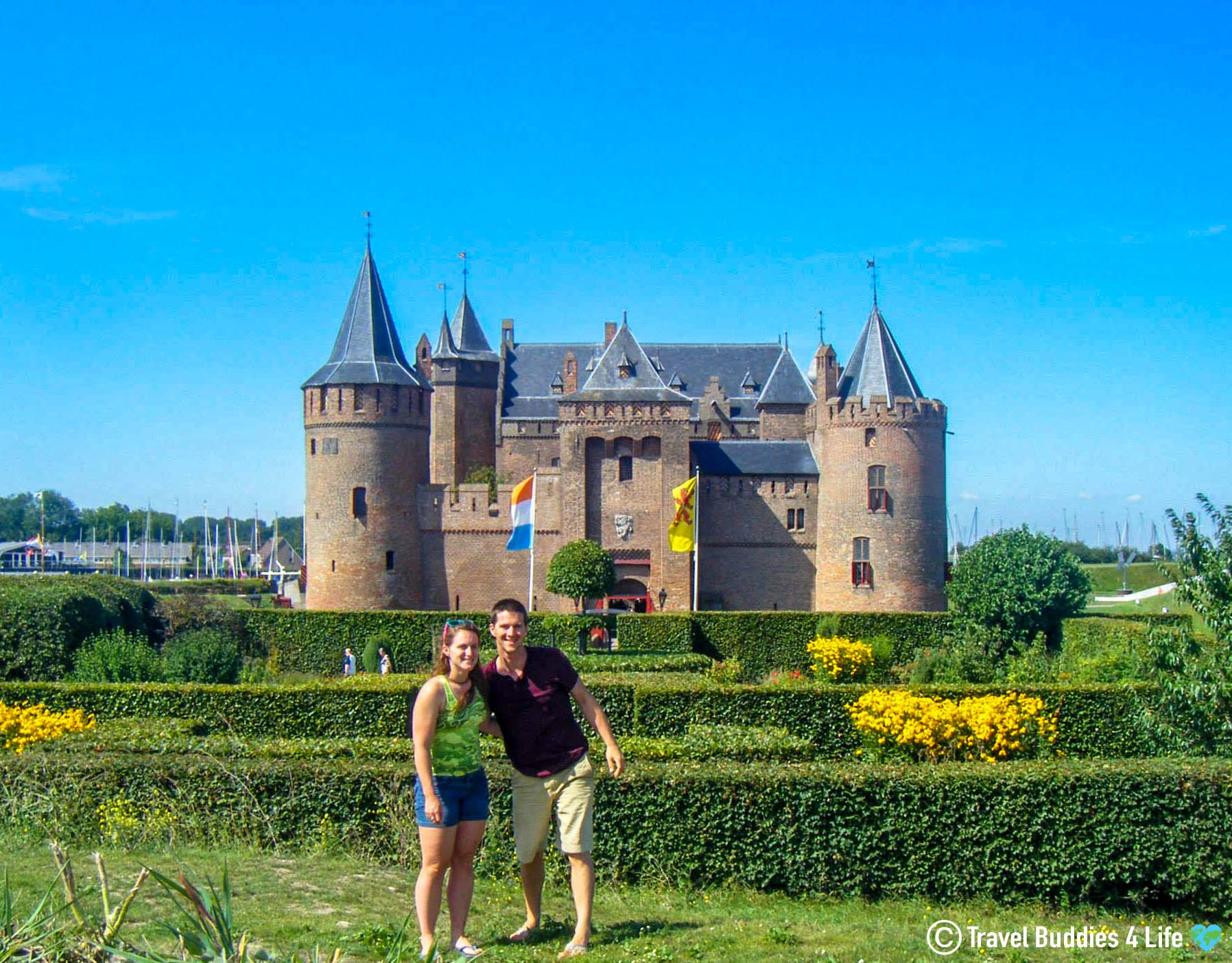 Ali And Joey In The Front Of The Muiderslot Castle, The Netherlands, Europe