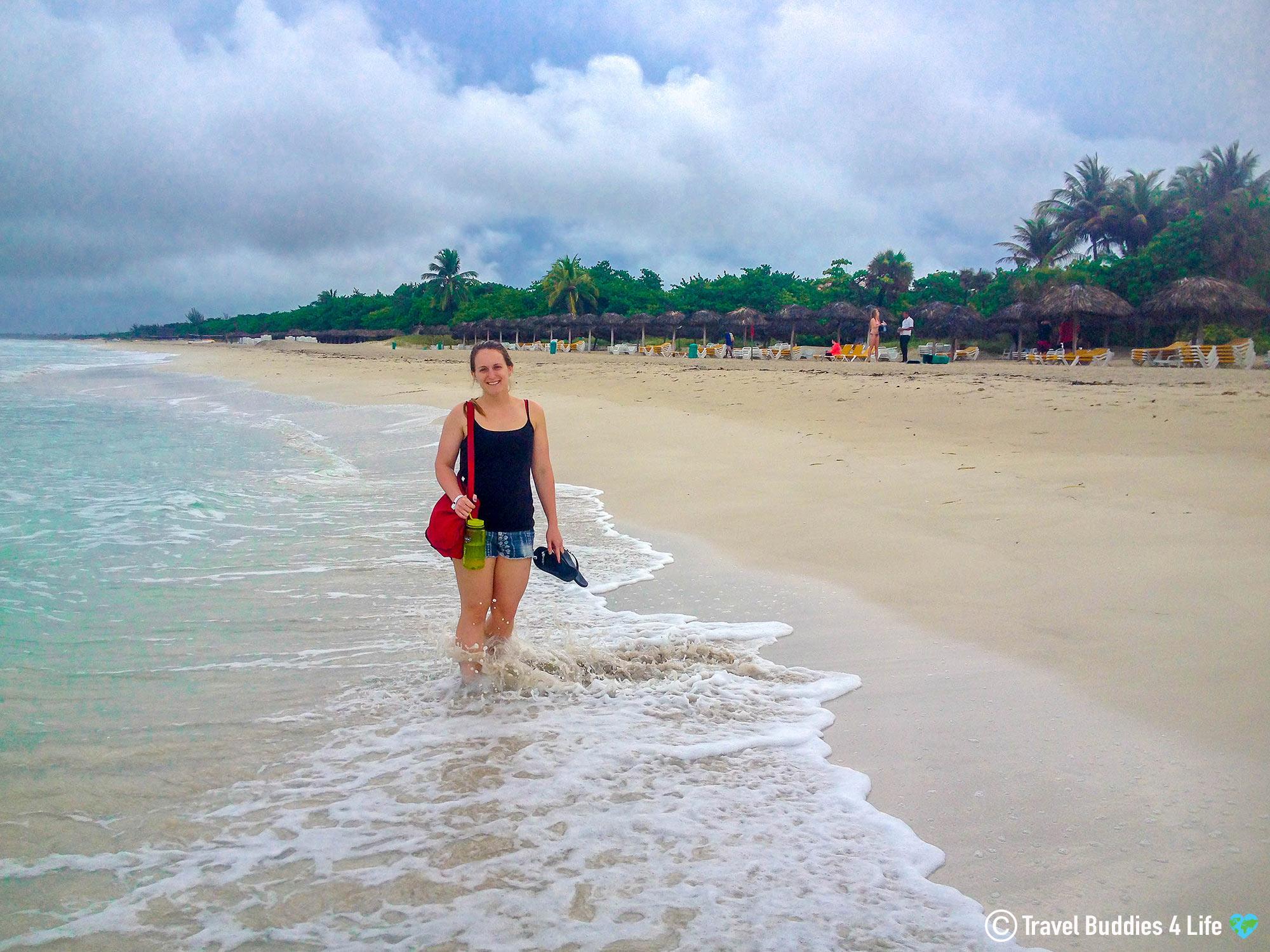 Ali In The Atlantic Ocean Of Cuba, Varadero, Tropical Vacation