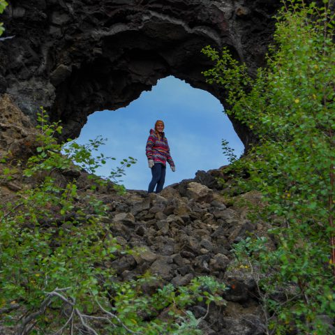 Ali in the Hole at Dimmuborgir
