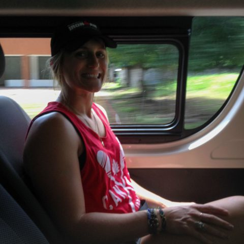 Ali in the Costa Rican Shuttle Transport