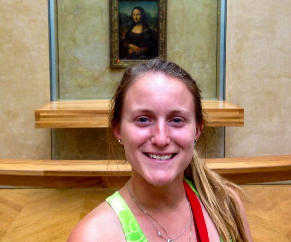 Ali with Mona Lisa