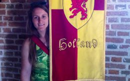 Ali with a Castle Banner