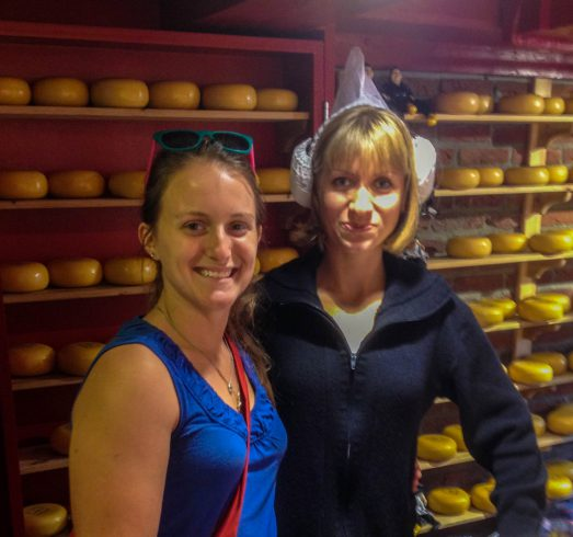 Ali with a Cheese Lady