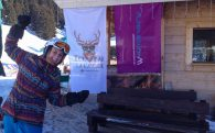 Ali With The Purplesnow Banner In Flaine