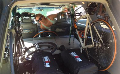 Ali With The Race Bikes Packed In The Car Ready For The Ironman