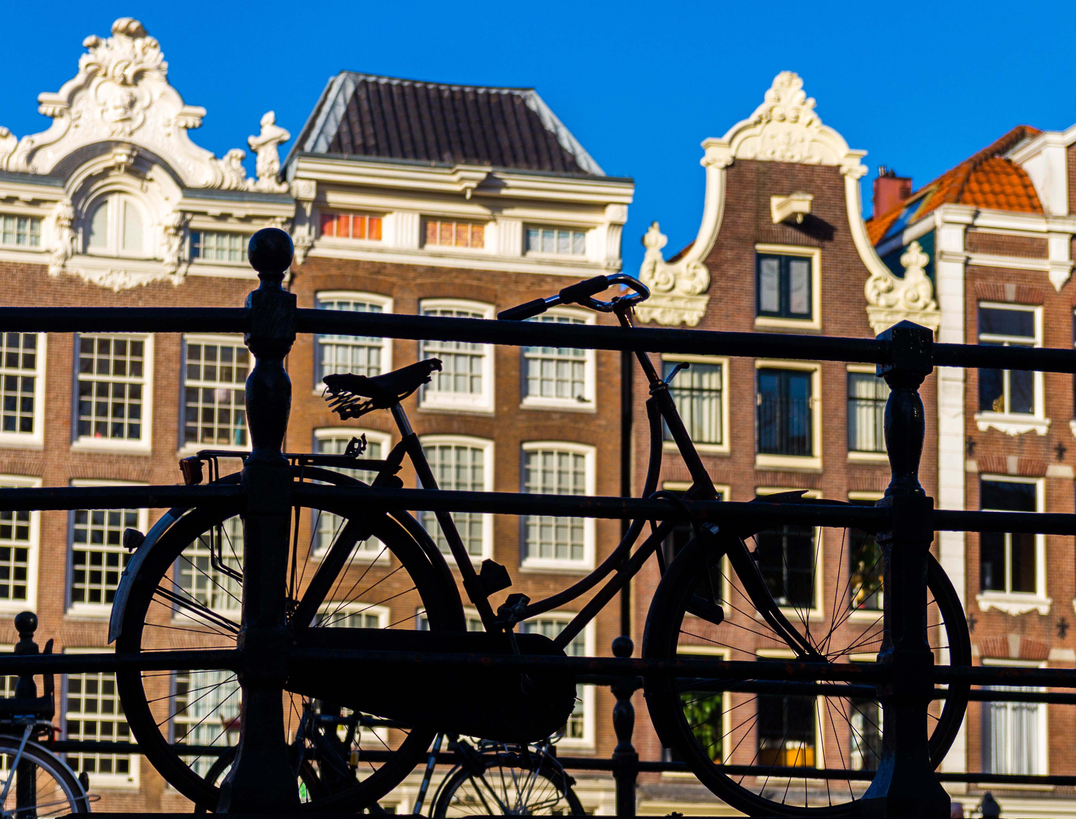Amsterdam Bike Silhouette