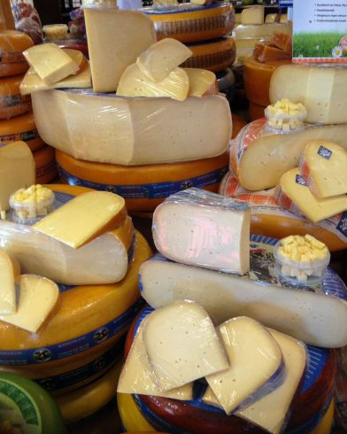 An Assortment Of White Dutch Cheeses