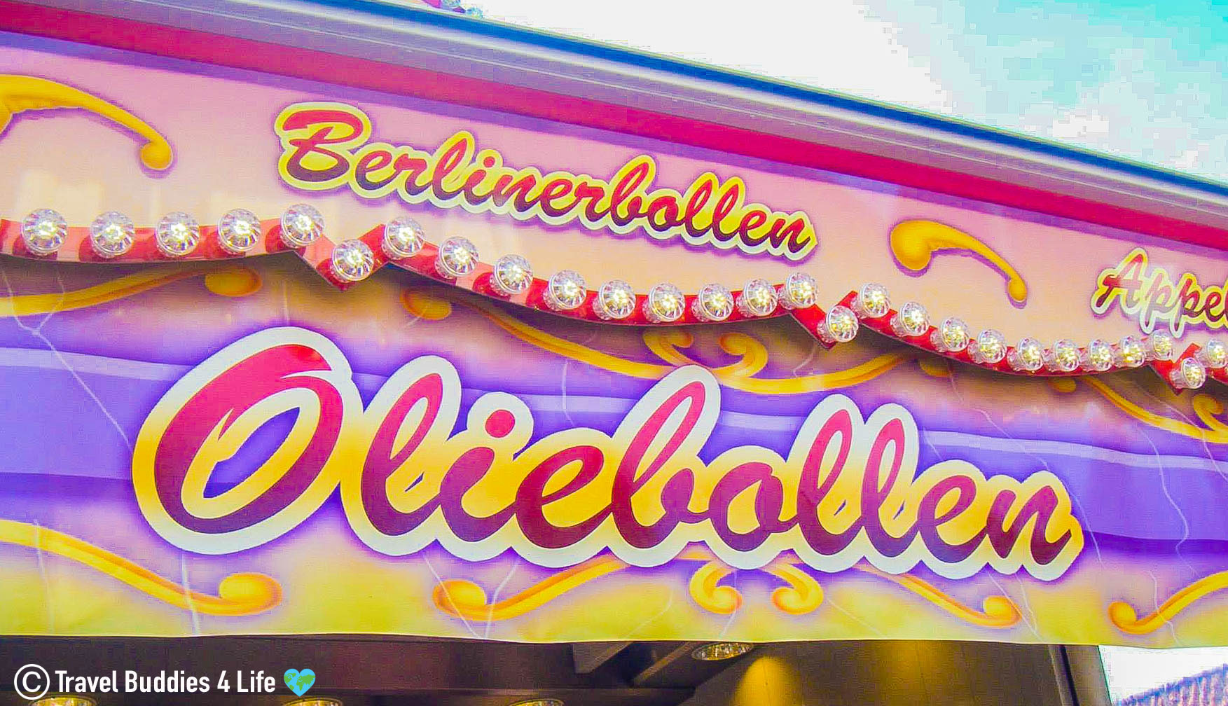An Olieball Sign And Stand In The Netherlands, Europe Food