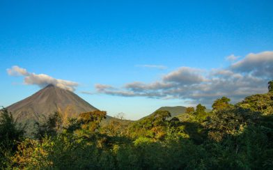 The Arenal Volcano with Outdoor Jungle Around