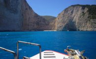 Arriving To Navigo Beach Via Water Taxi On Greece
