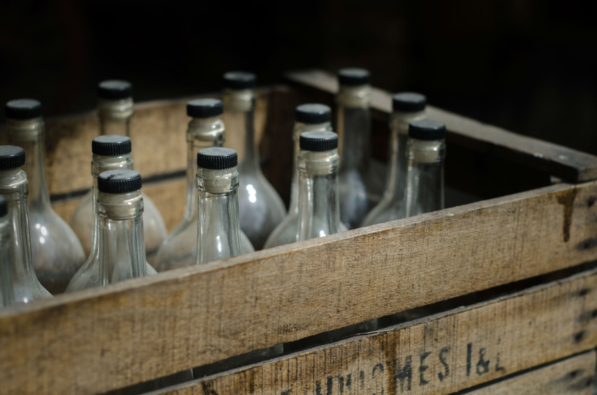 Bottles In A Crate in the Diefenbunker Escape Room
