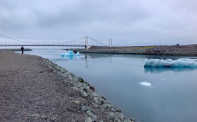 Bridge Opening the Glacier Lagoon to the Sea