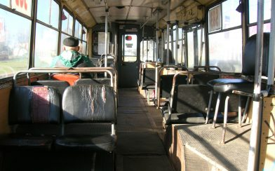 Costa Rica Chicken Bus Inside