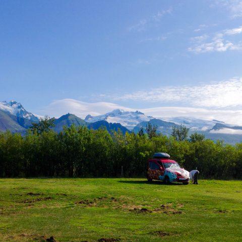 Camping Spot in Skaftafell National Park, Iceland