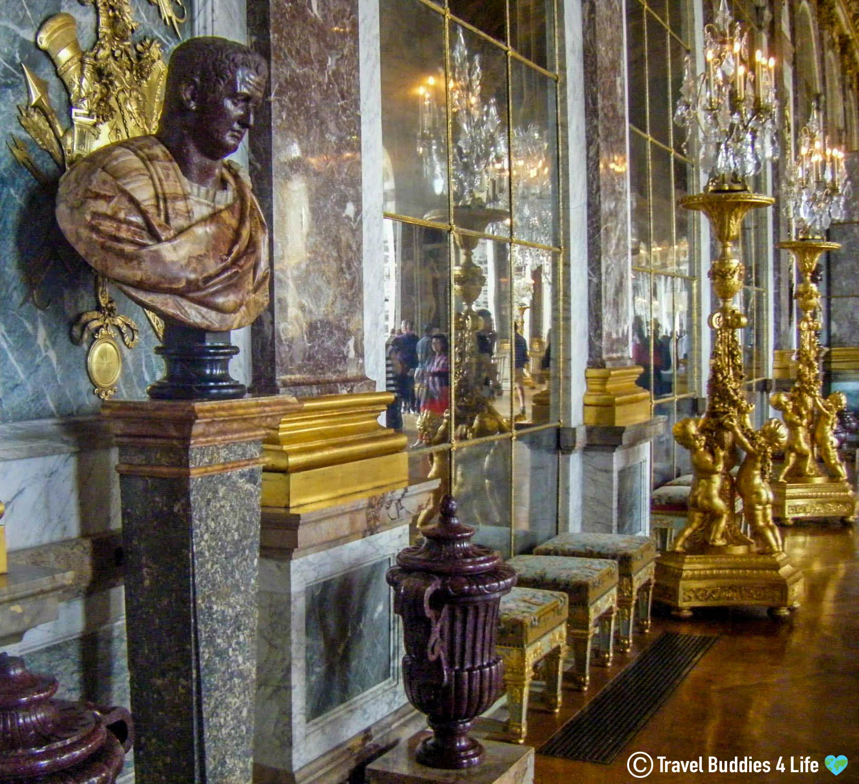 Chateau Versaille's Gallerie Des Glace Room In Paris, France