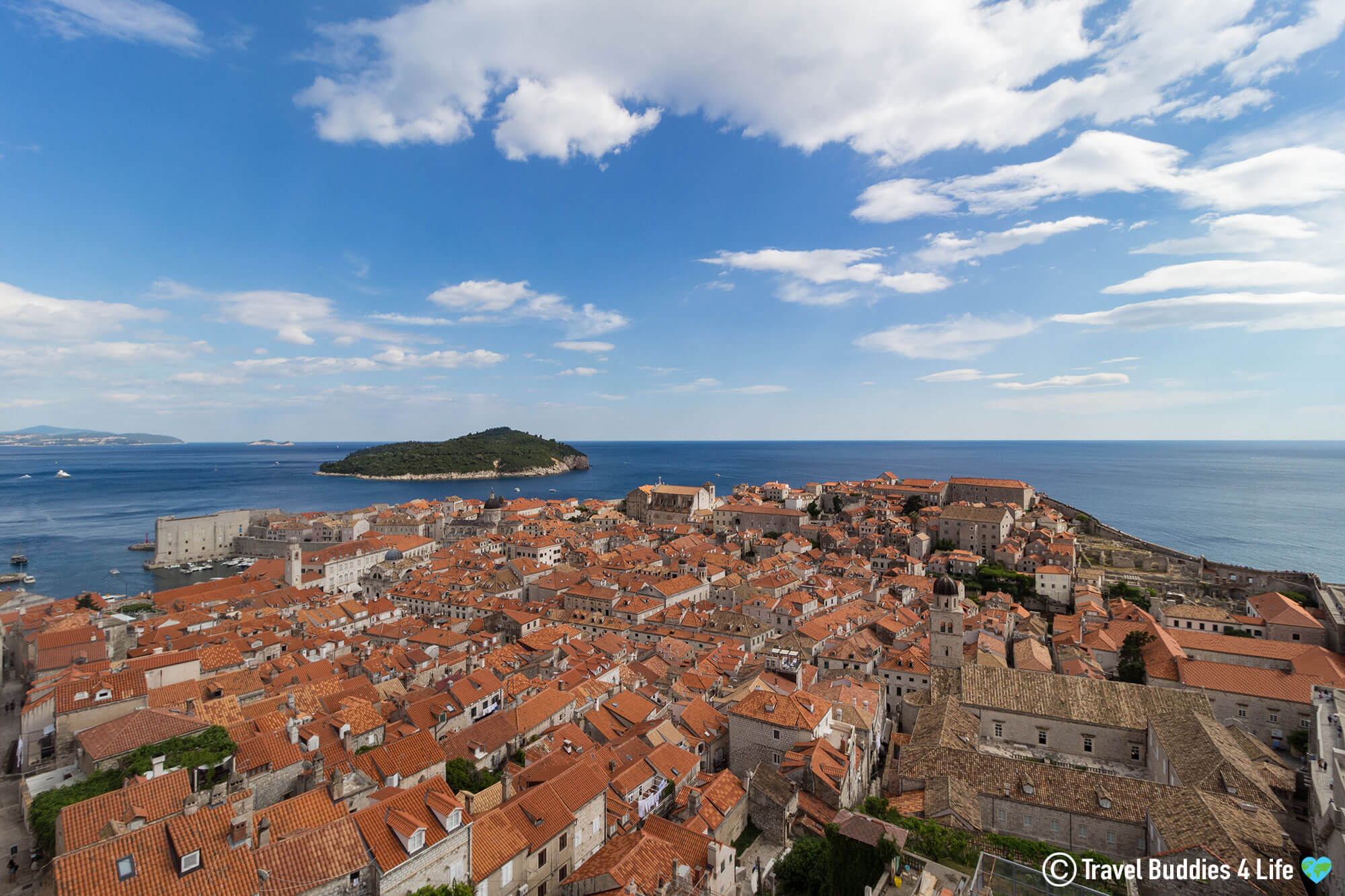 Checking out the Rooftops from the Dubrovnik Wall