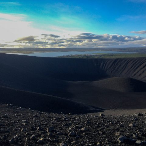 Icelandic Crater with the Lake in the Background
