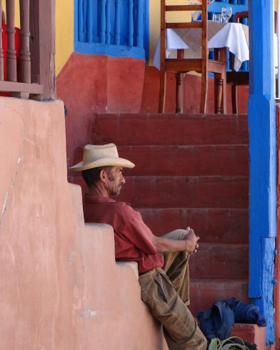 A Cuban Man in a Straw Hat