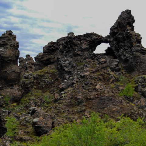 A Strange Lava Rock Formation in Iceland