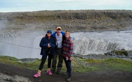 Iceland's Dettifoss Waterfall with Mom, Joey and Ali