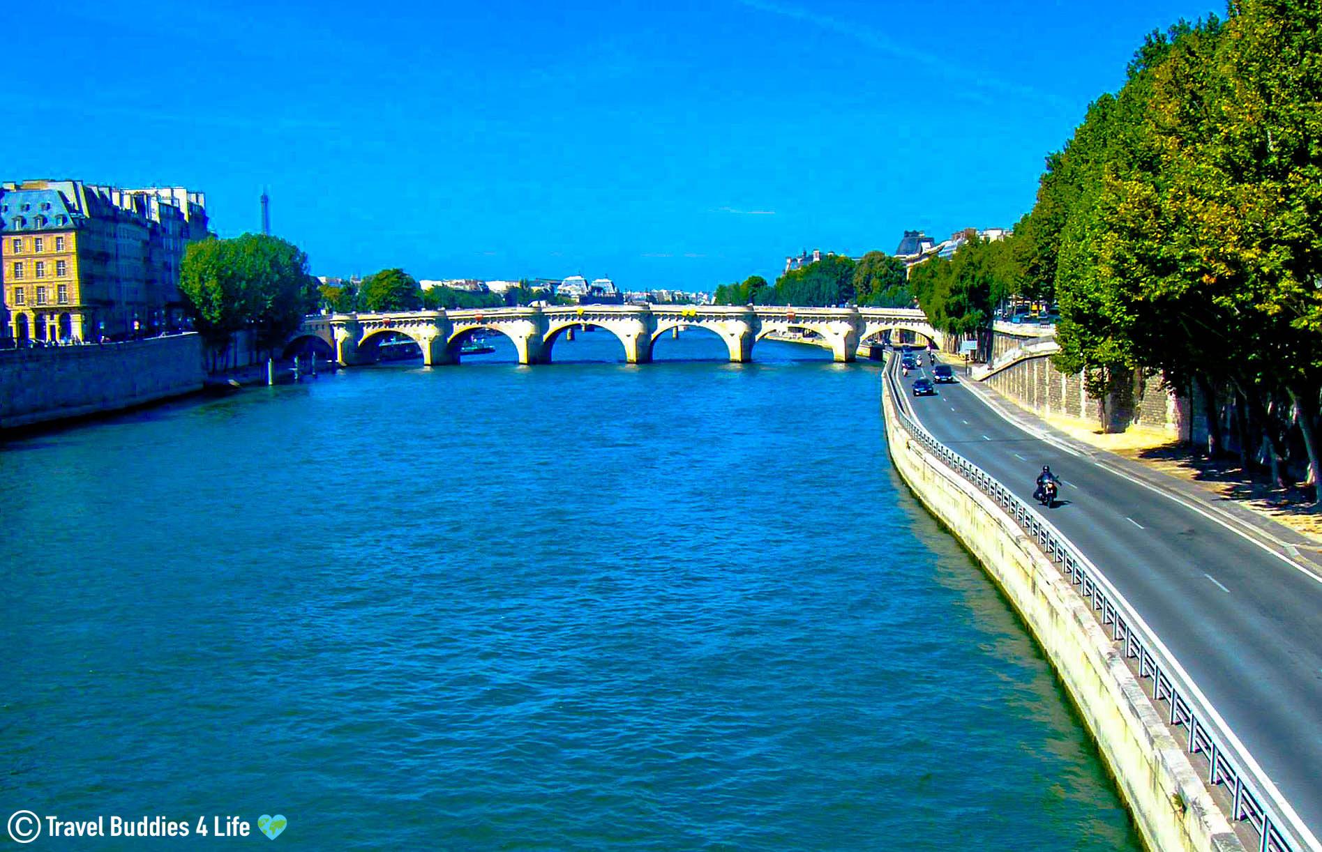 Enjoying The Seine River Slicing Through Paris, France, Europe