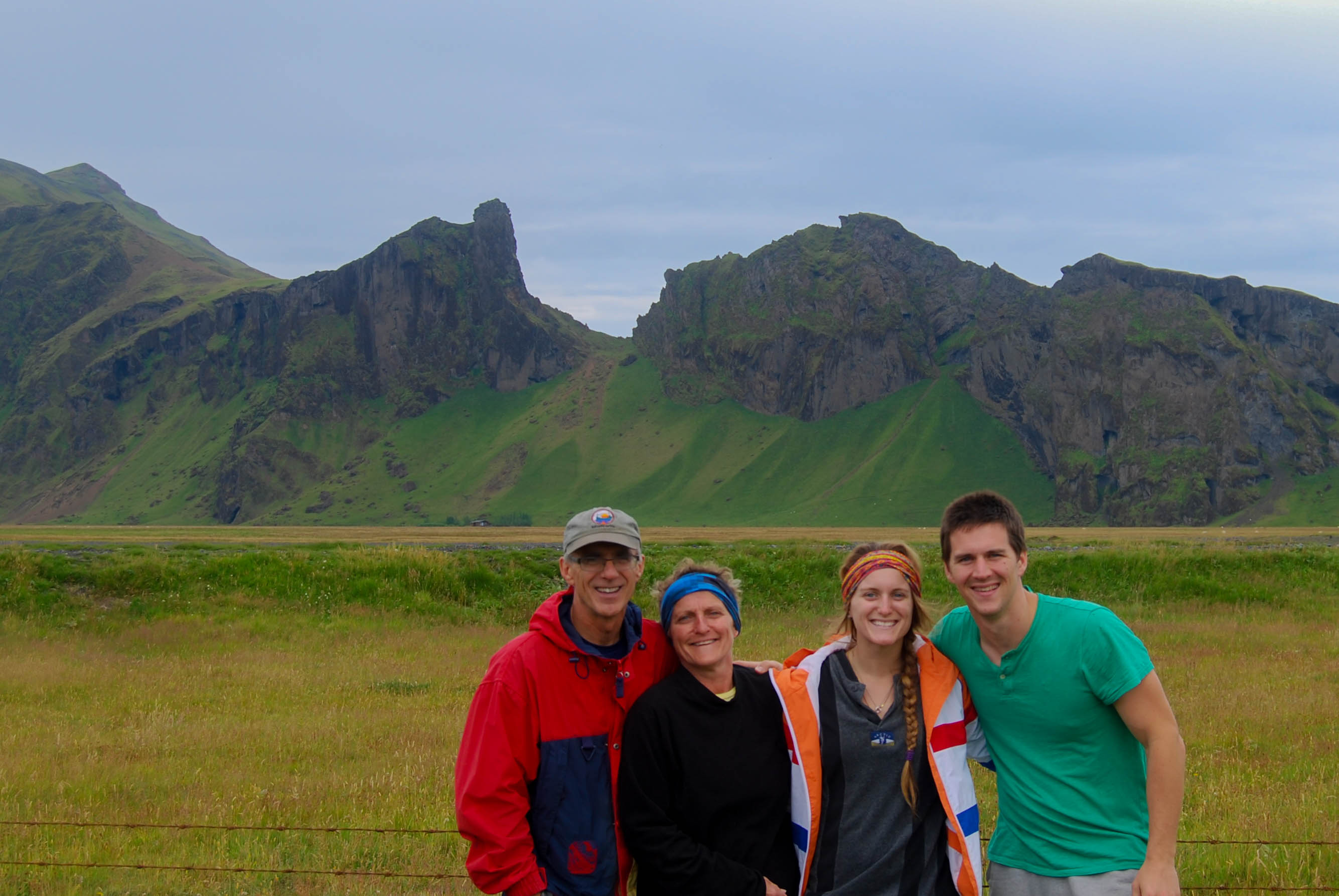 The Family Near the Icelandic Mountains