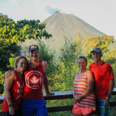 The Family Picture at the Arenal Volcano, Costa Rica