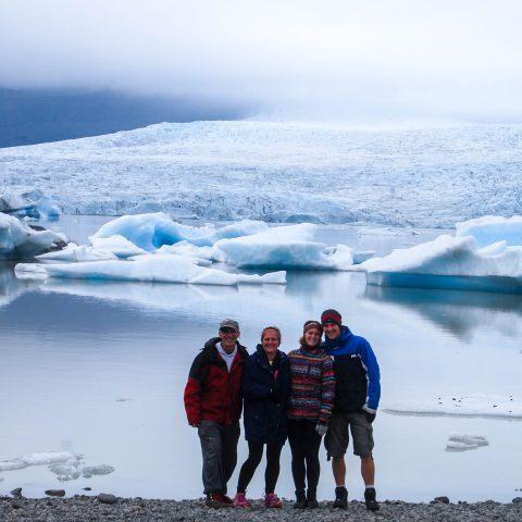The Family at Jökulsárlón in Iceland