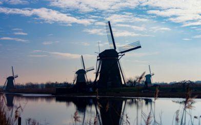 Four Windmills At The Kinderdijk