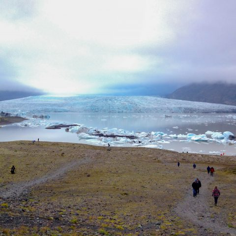 Going Down to the Glacier Lagoon in Iceland