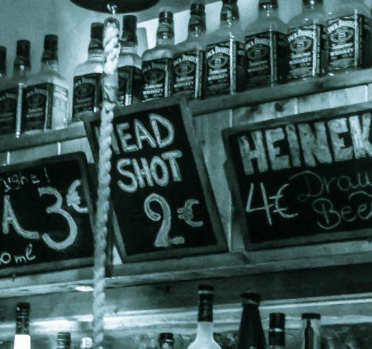 Head Shot At The Bar Of Fira, Santorini