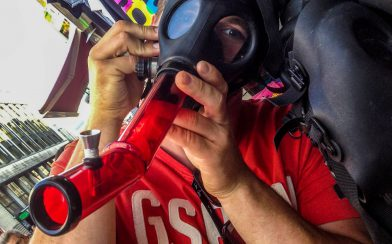 Joey and a Gas Mask