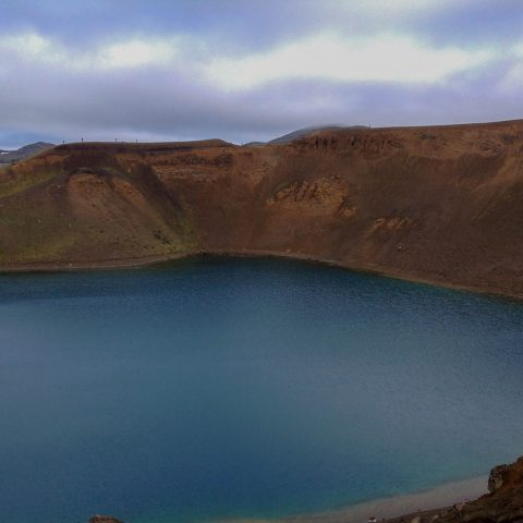 Viti Lake in Myvatn, Iceland