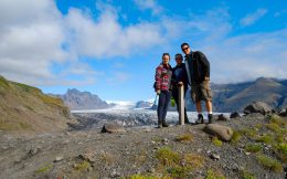 Joey, Mom and Ali Close to a Glacier in Iceland