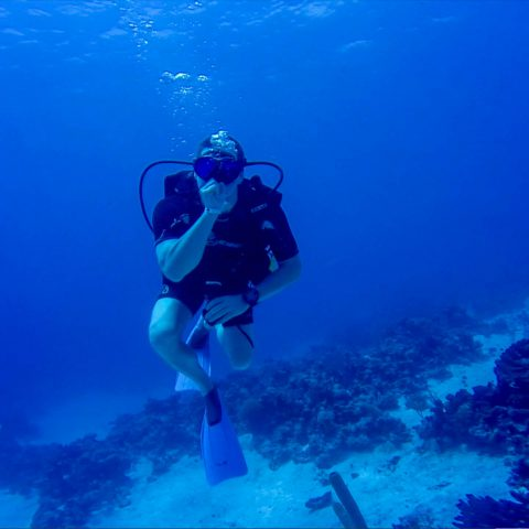 Joey Scuba Diving in Cuba