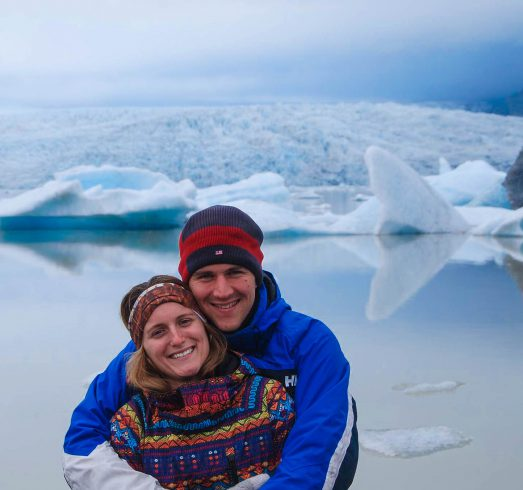Joey and Ali Together at the Glacier Lagoon in Iceland