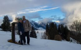 Joey And Ali Out For A Walk In Switzerland