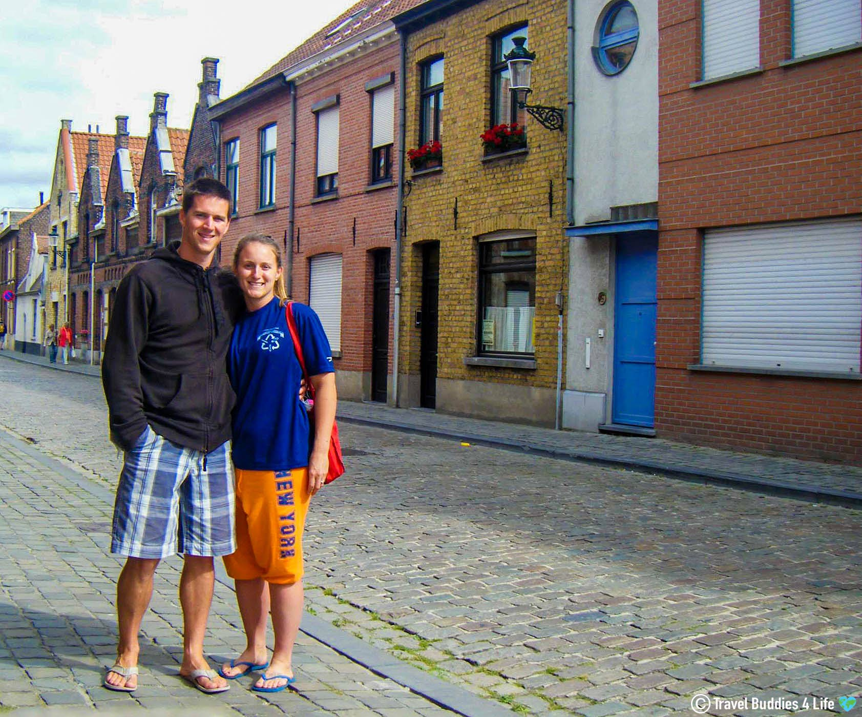 Joey And Ali Touring The Streets Of Bruge, Belgium, Europe Adventures