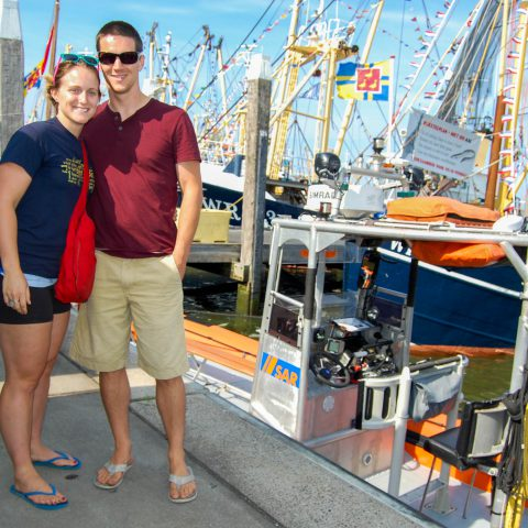Joey and Ali by the Boats