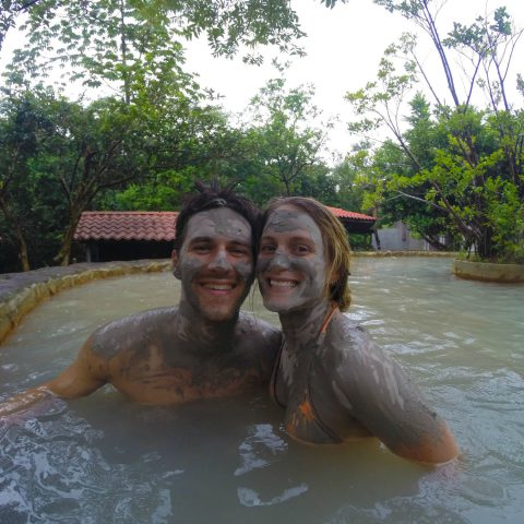 Joey and Ali in Costa Rican Mud Bath